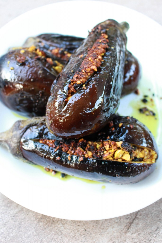 Indian Stuffed Eggplant   Catching Seeds