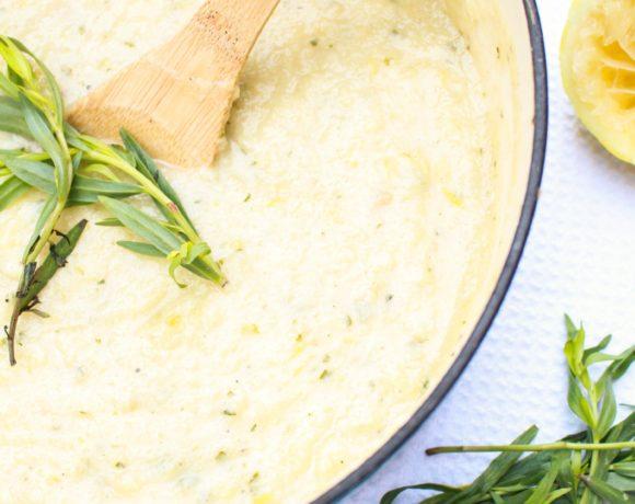 Lemon Taragon Cauliflower Soup Recipe | Catching Seeds