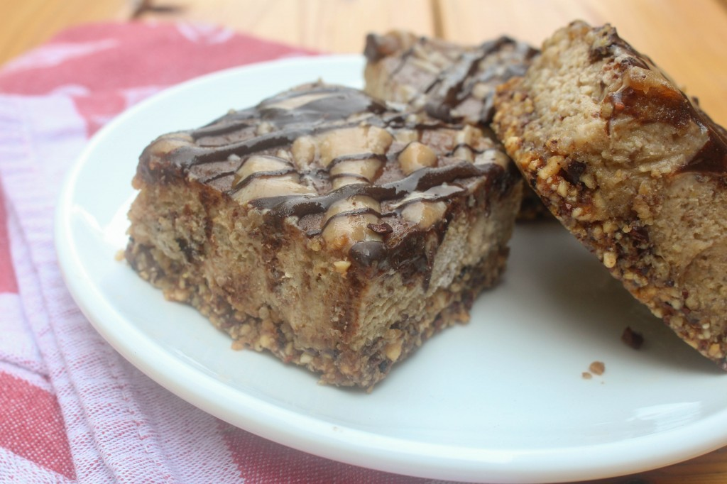 Peanut Butter & Banana Cream Bars | Catching Seeds