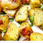 Herbs de Provence Roasted Potatoes perfectly creamy and crispy!