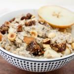 Figgy Oatmeal w Pears + Toasted Hazelnuts   Catching Seeds