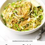 Sesame Cabbage Noodles ready in 30 minutes!