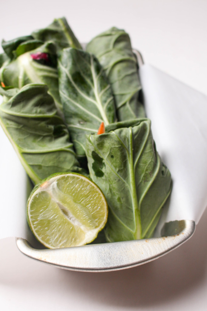 Delicious and fresh collard wraps and a secreat to getting them to roll perfectly every time! #glutenfree #vegan