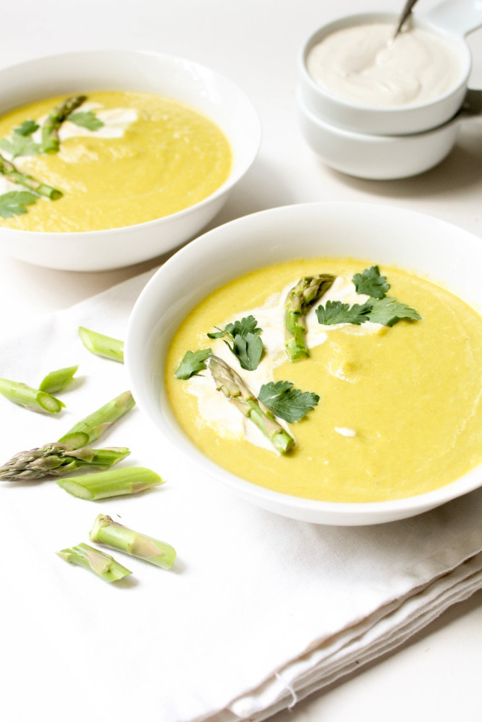 Chilled Asparagus Soup - Catching Seeds