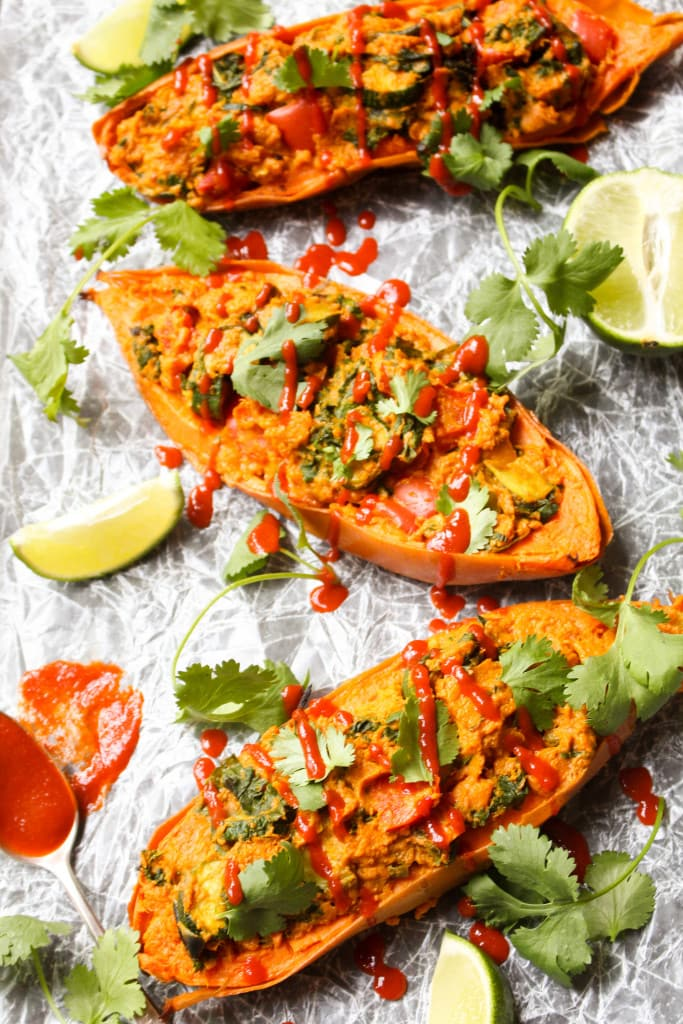 Twice baked sweet potatoes are easier than you might think!