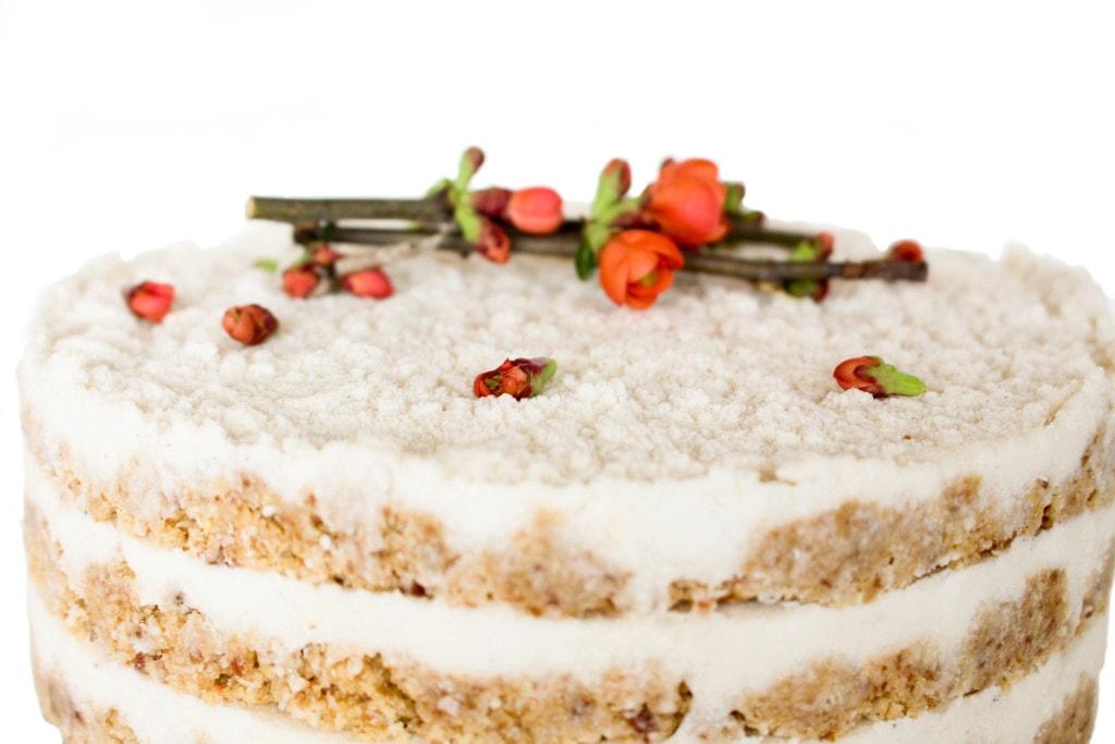 An impressive raw layer cake!