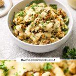 Cauliflower Lentil Salad with maple tahini dressing