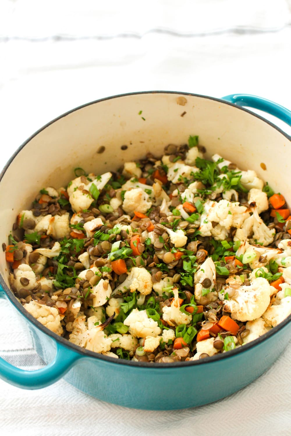 This lentil salad is ready in 30 and PACKED with flavor!