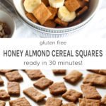 Gluten free honey almond cereal squares ready in 30 minutes!