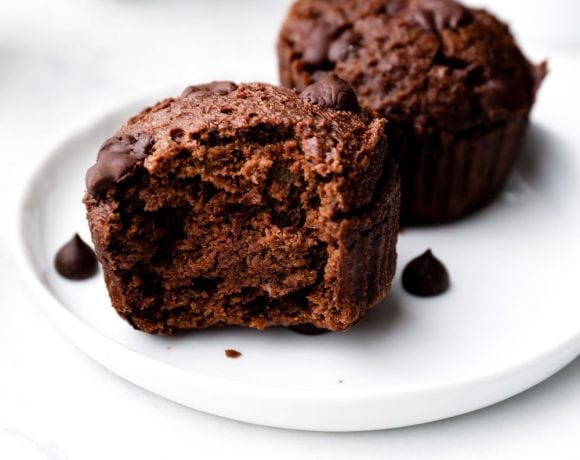 Gluten Free Chocolate Muffins with chocolate chips.