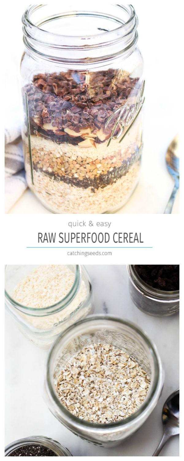 A quick and easy raw cereal.