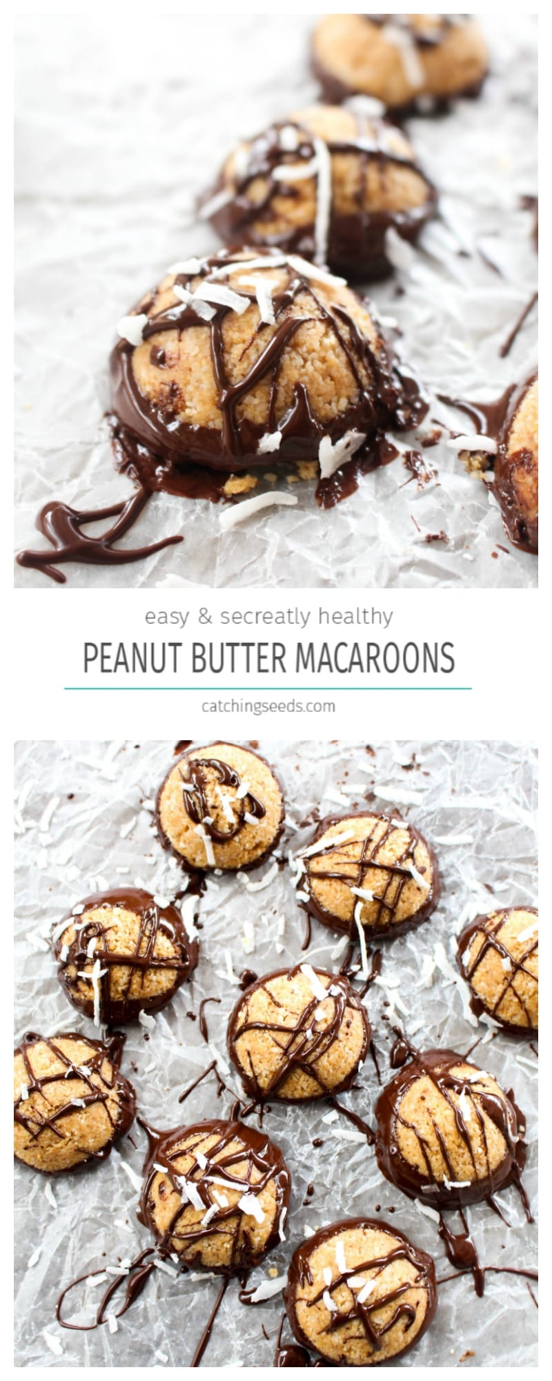 You'll never believe these peanut butter & chocolate macaroons recipe is healthy! Vegan, paleo, gluten-free &dairy-free!