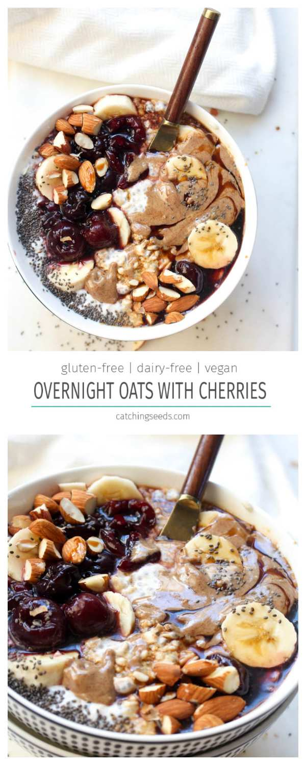 This easy breakfast recipe for overnight oats requires only 2 steps! It is packed with flavor and will keep you full till breakfast time.
