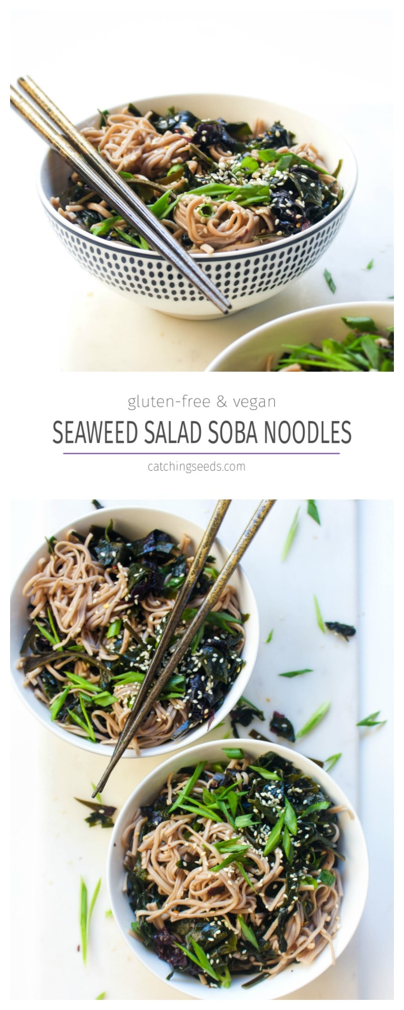 All the flavors of seaweed salad from your favorite joint for dinner in under 30 minutes. Winning.