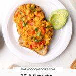 15 Minute Chickpea Scramble - vegan & gluten free!