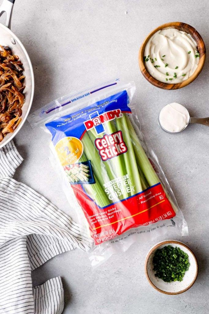 Ingredients to make Vegan French Onion Dip