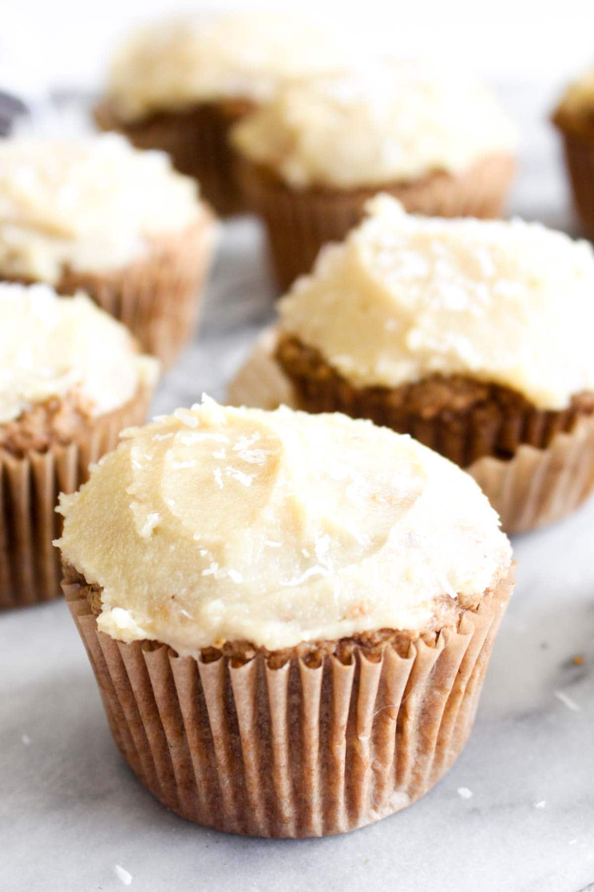These Gluten Free Carrot Cake Cupcakes are packed with carrot cake flavor, yet are gluten-free and vegan! These treats are the perfect healthy Easter indulgence!