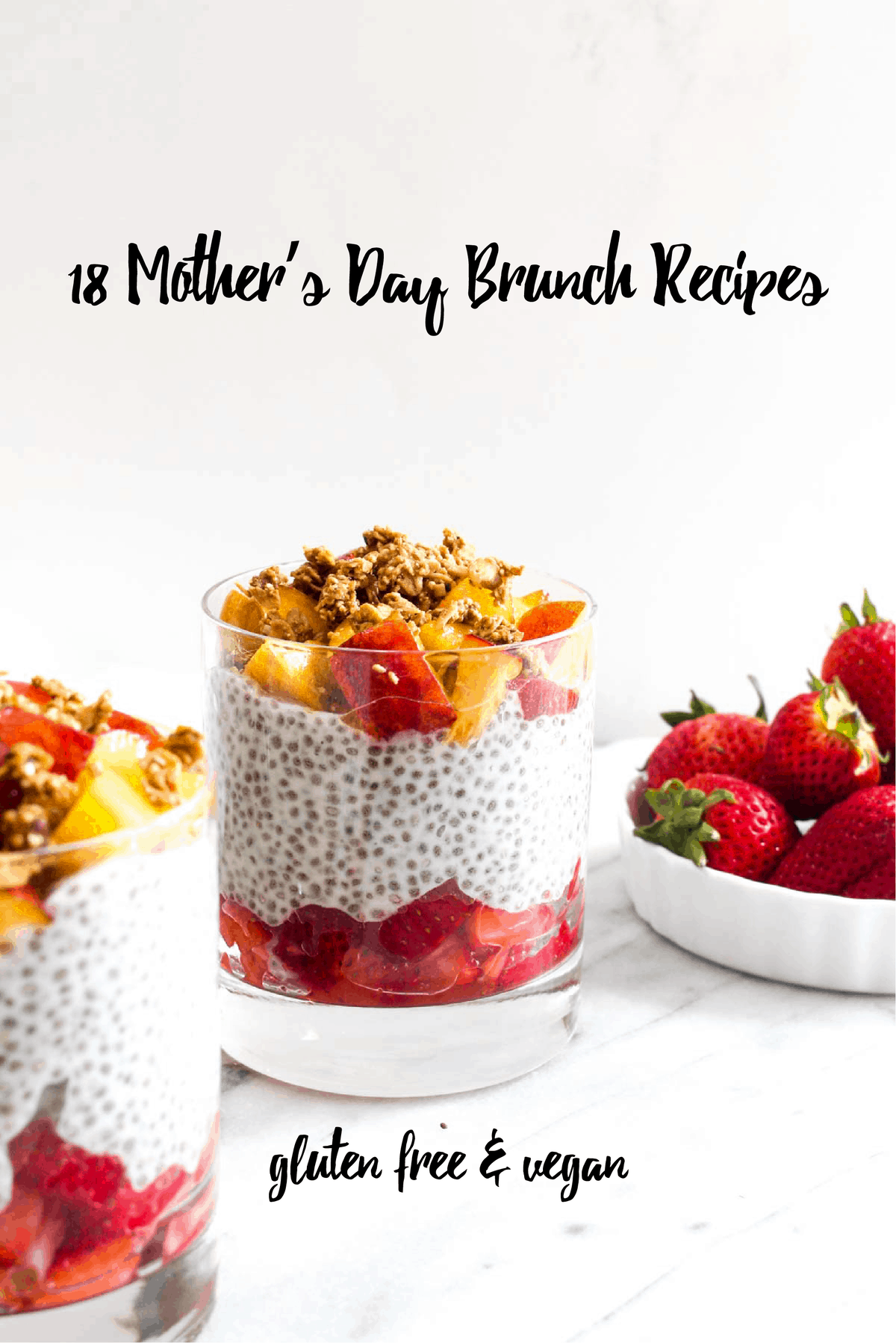 These 18 Mother's Day Brunch Recipes are sure to give you all the inspiration you need! These recipes are all healthy, vegan, gluten free and delicious!
