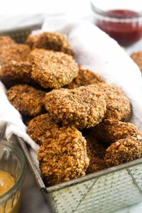 TheseRed Lentil Veggie Nuggets are a healthy recipe that the whole family will love! These tasty bites sneaks in lots of protein and several servings of vegetables! | CatchingSeeds.com