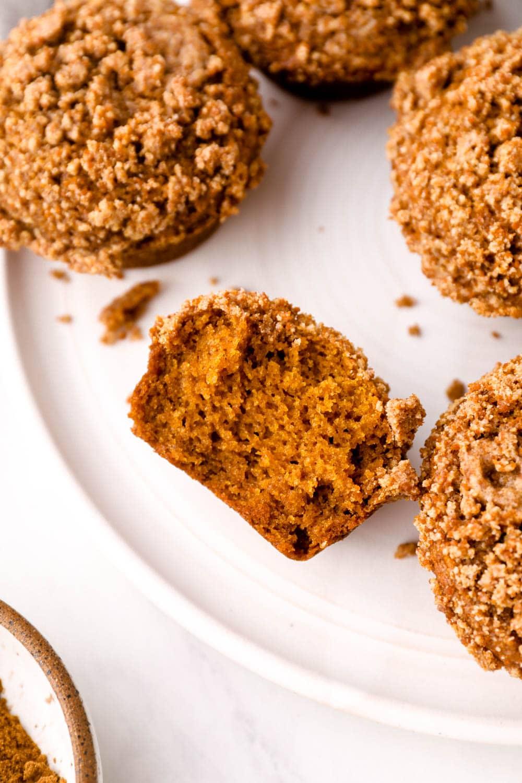 Gluten Free Pumpkin Muffins on a plate.