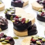 These 5-ingredientGrain-Free Shortbread Cookies are both paleo and vegan but taste JUST like the original. This easy recipe is the perfect addition to your cookie tray. | CatchingSeeds.com