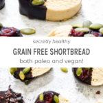 Secretly healthy grain free shortbread both paleo and vegan!