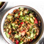 Protein packed summer lentil salad.