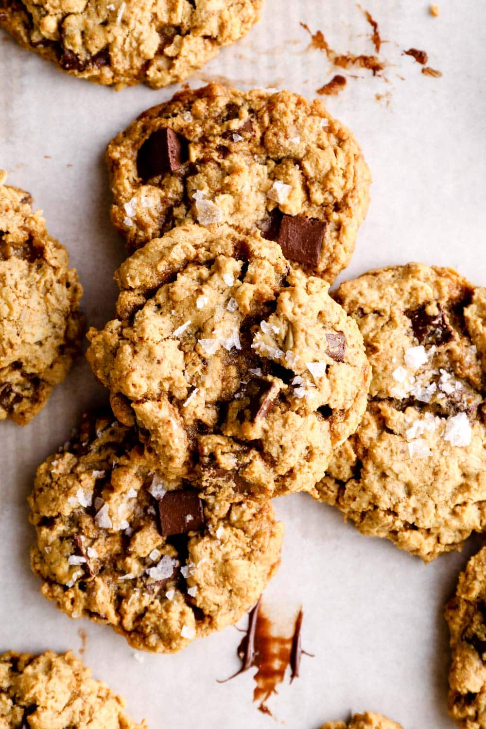 A stack of gluten free oatmeal cookies.