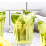 One ingredient fresh mint iced tea