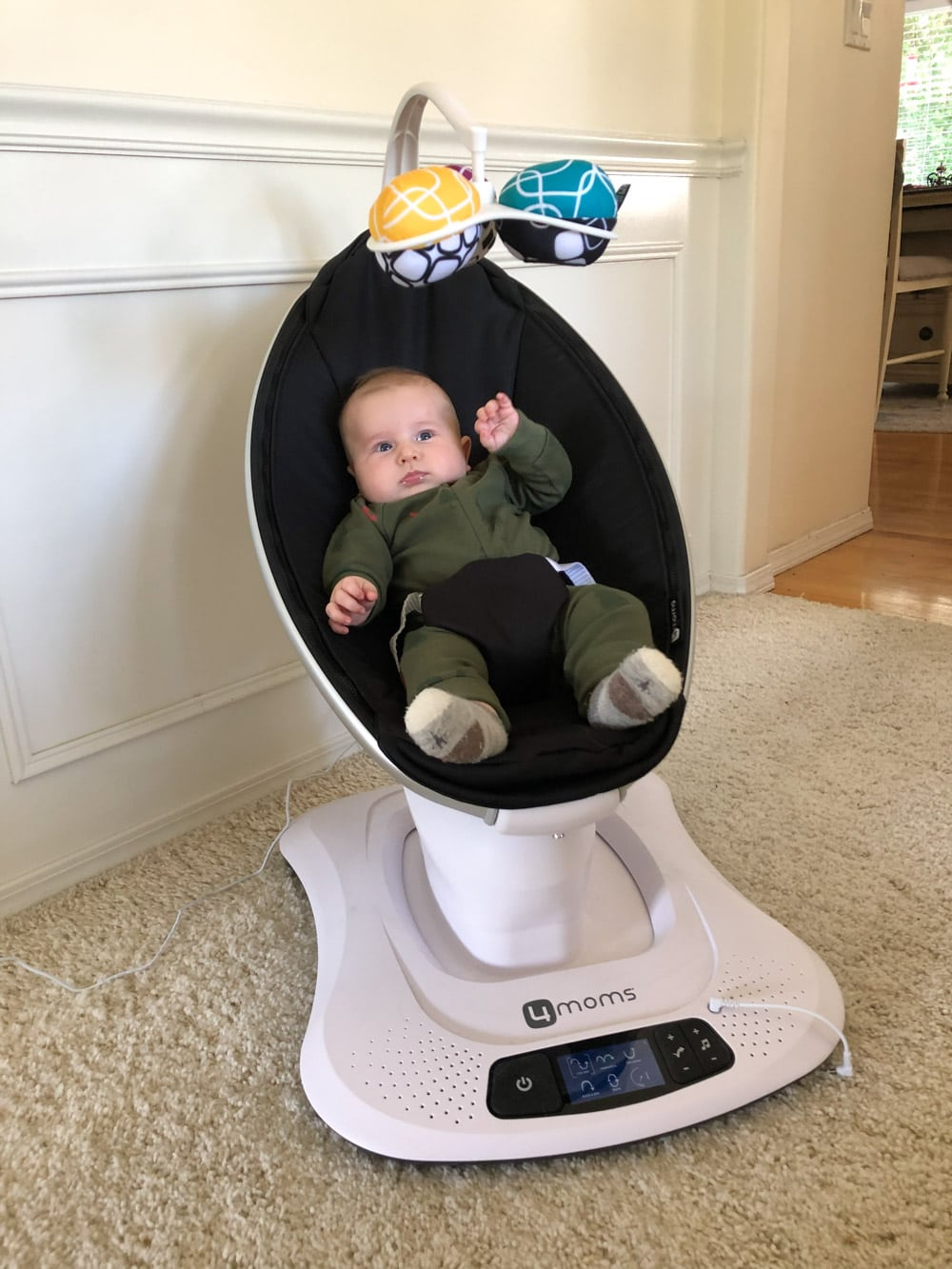 Sawyer in his bouncer chair.