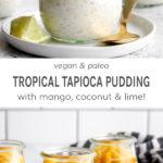 Vegan & paleo tropical tapioca pudding