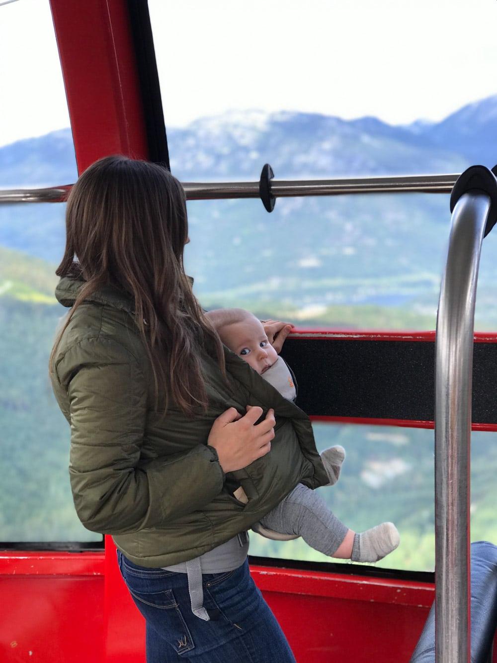 Sawyer on the Peak to Peak Gondola.