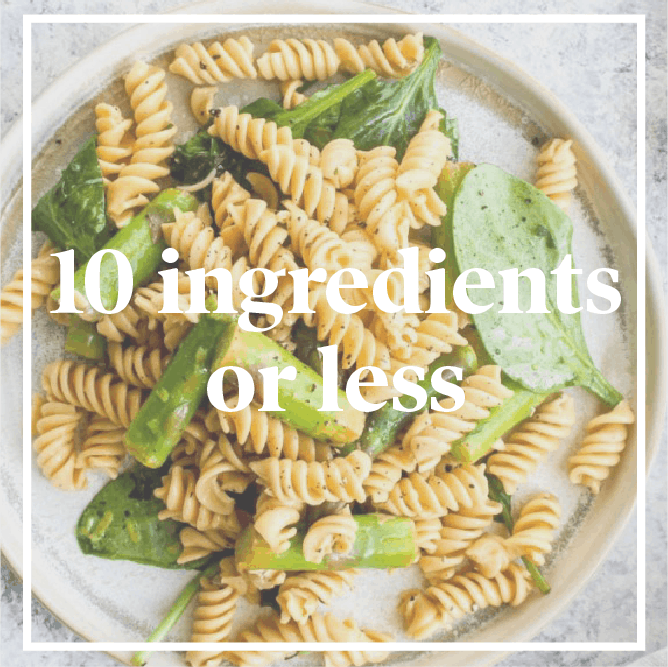 10 Ingredients or less