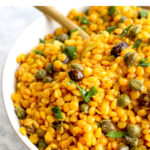 20 minute and healthy curry red lentil salad.