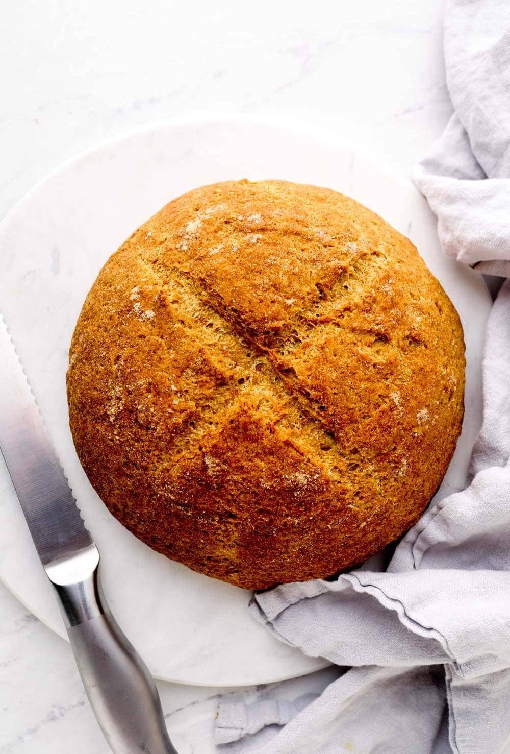 Artisan Gluten Free Bread out of the oven.