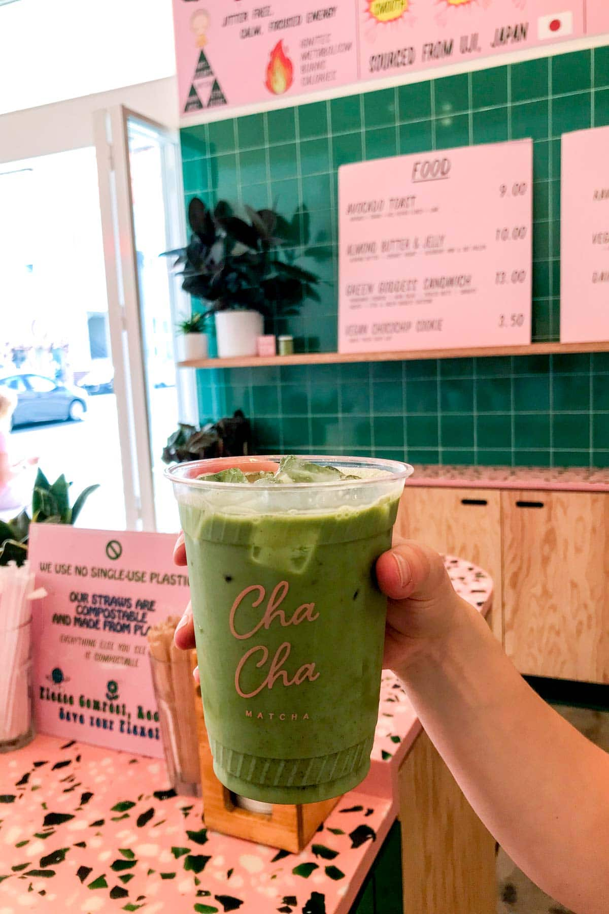 A cup of tea from Cha Cha Matcha