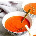 Ultra flavorful roasted tomato soup.