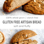 100% whole grain gluten free artisan bread. Soft and fluffy.