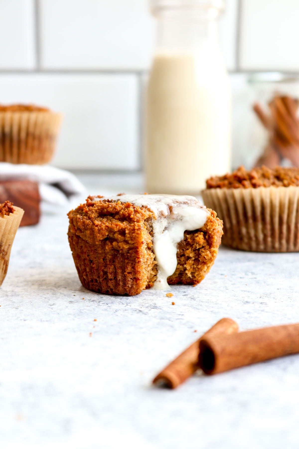 A simple paleo pumpkin muffin with dairy free butter.