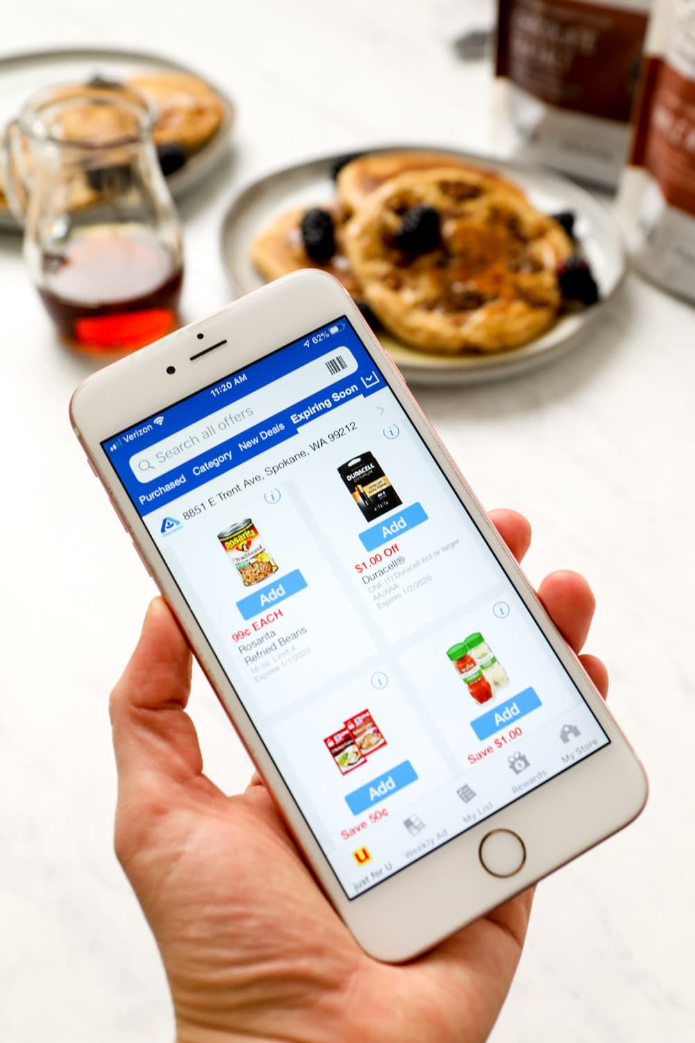 Gluten Free Granola Pancakes with the Albertsons mobile app coupons.