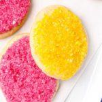 Grain free Easter egg sugar cookies. Gluten free, vegan, and paleo!