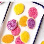 Grain free & vegan Easter egg sugar cookies