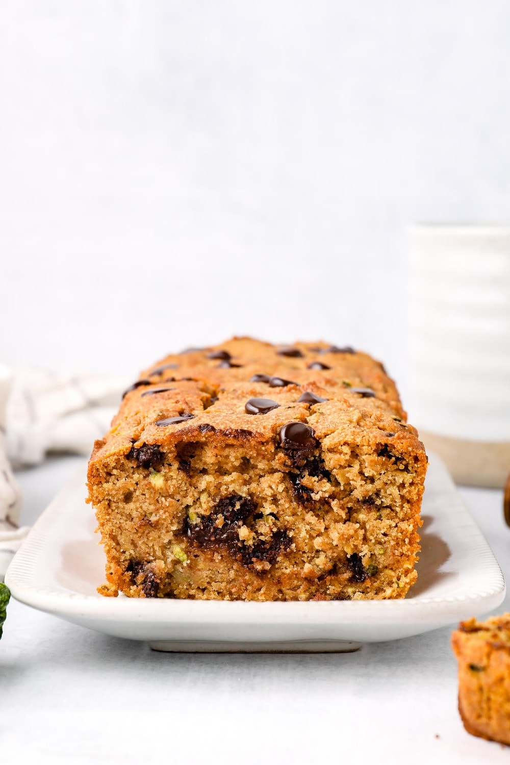 Gluten Free Zucchini Bread with chocolate chips.