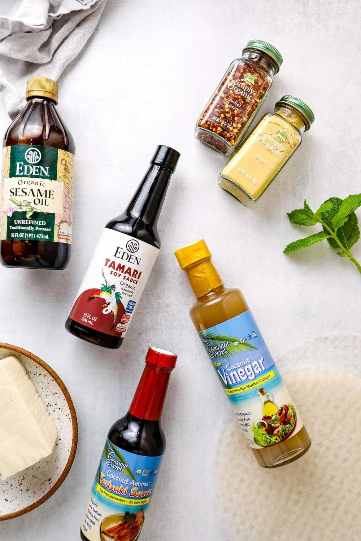 Ingredients for Vegan Summer Rolls