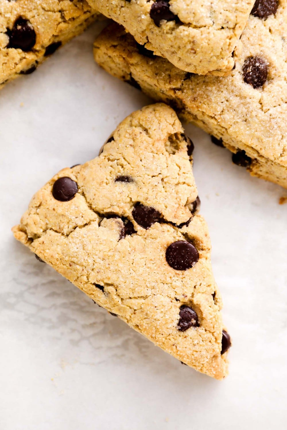 A Gluten Free Scone with chocolate chips.