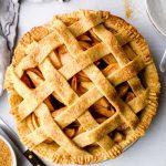 Gluten Free Apple Pie with lattice crust.