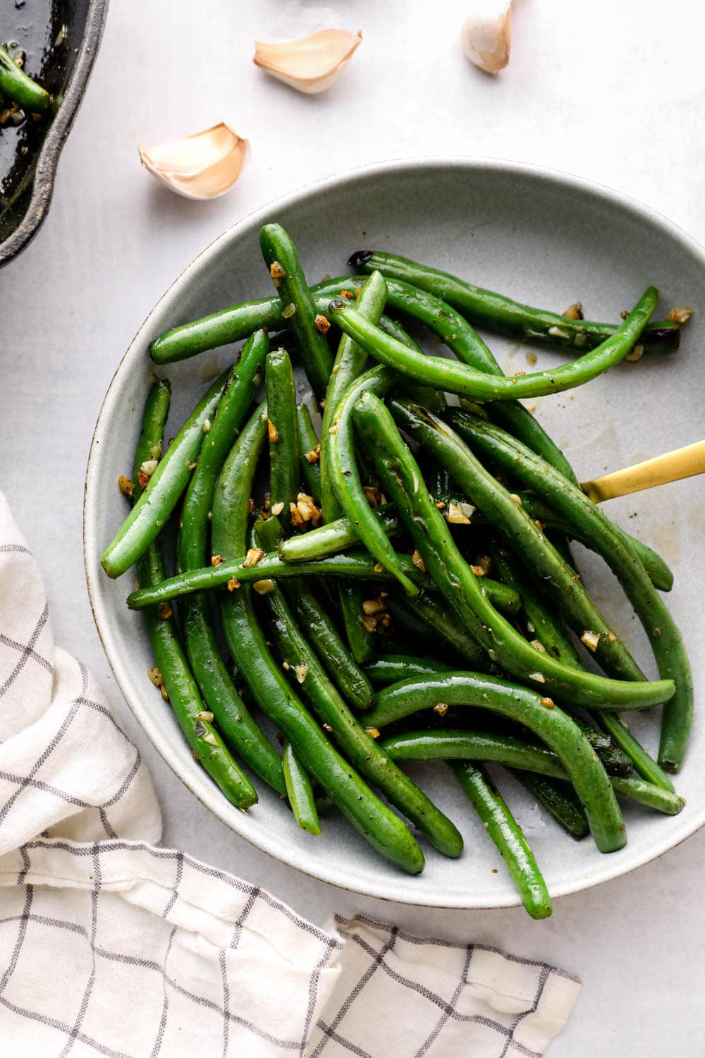 Garlic Green Beans in a bowl.