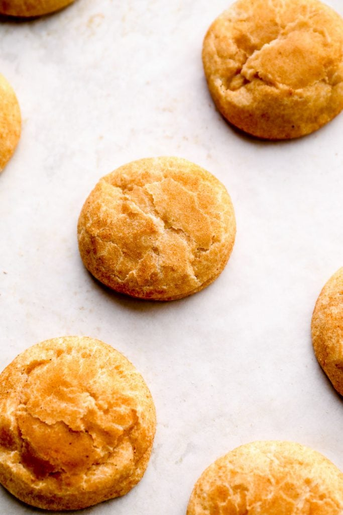 Just out of the oven Gluten Free Snickerdoodles.