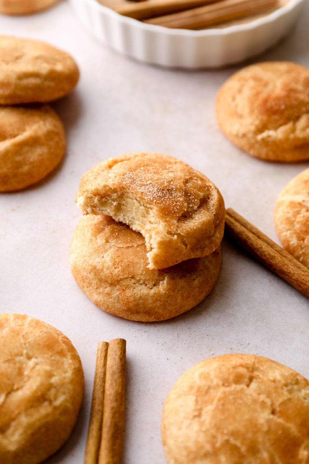 A stack of Gluten Free Snickerdoodles