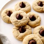 Gluten Free Peanut Butter Blossoms with a dairy free chocolate kiss.
